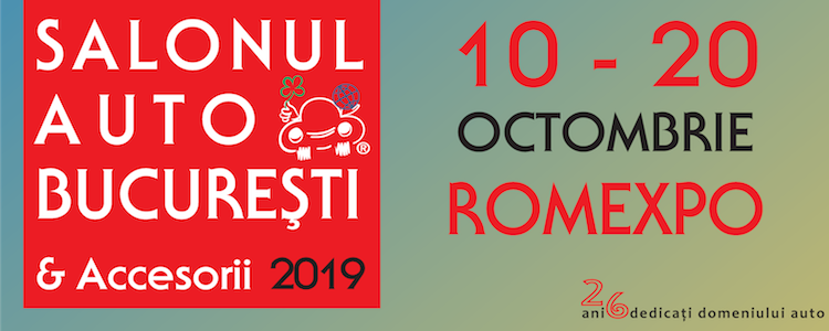 SALONUL AUTO BUCUREȘTI & Accesorii, 10 – 20 octombrie 2019- ROMEXPO