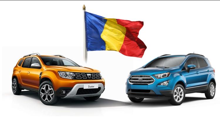 Productie autoturisme in Romania –  Total 2019