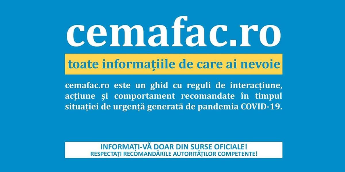 CeMaFac.ro – platformă online din ecosistemul de luptă contra efectelor COVID-19