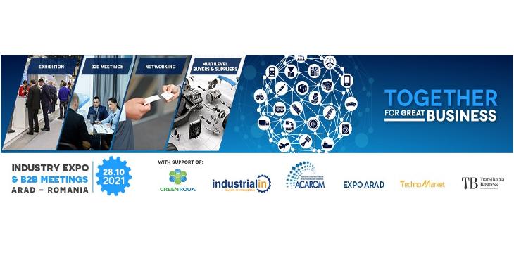 Participati la Industry Expo & B2B Meetings, 28 Octombrie 2021, Arad