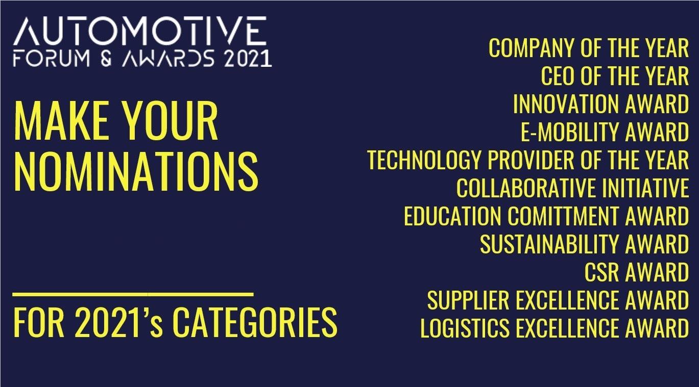 Automotive Forum & Awards Gala, 2021 Edition – November 16, Bucharest – Nominate your favorites!